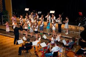 9. Internationales Suzukifestival Mürzzuschlag, mit 99 jungen Streichern aus ganz Europa, August 2014
